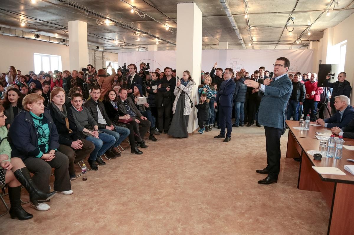 Встреча Метшина с противниками строительства МСЗ в Казани