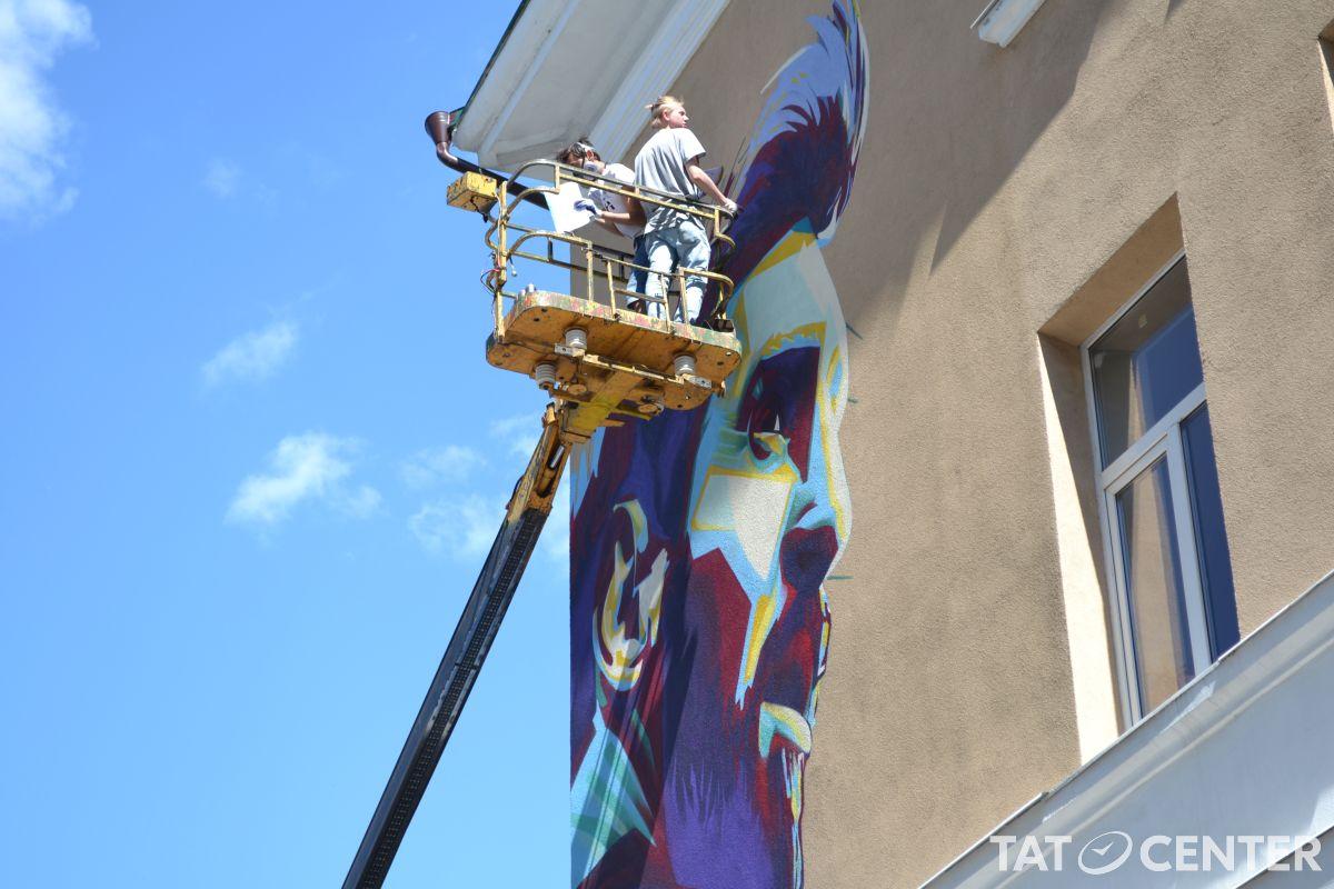 Граффити Месси в Казани
