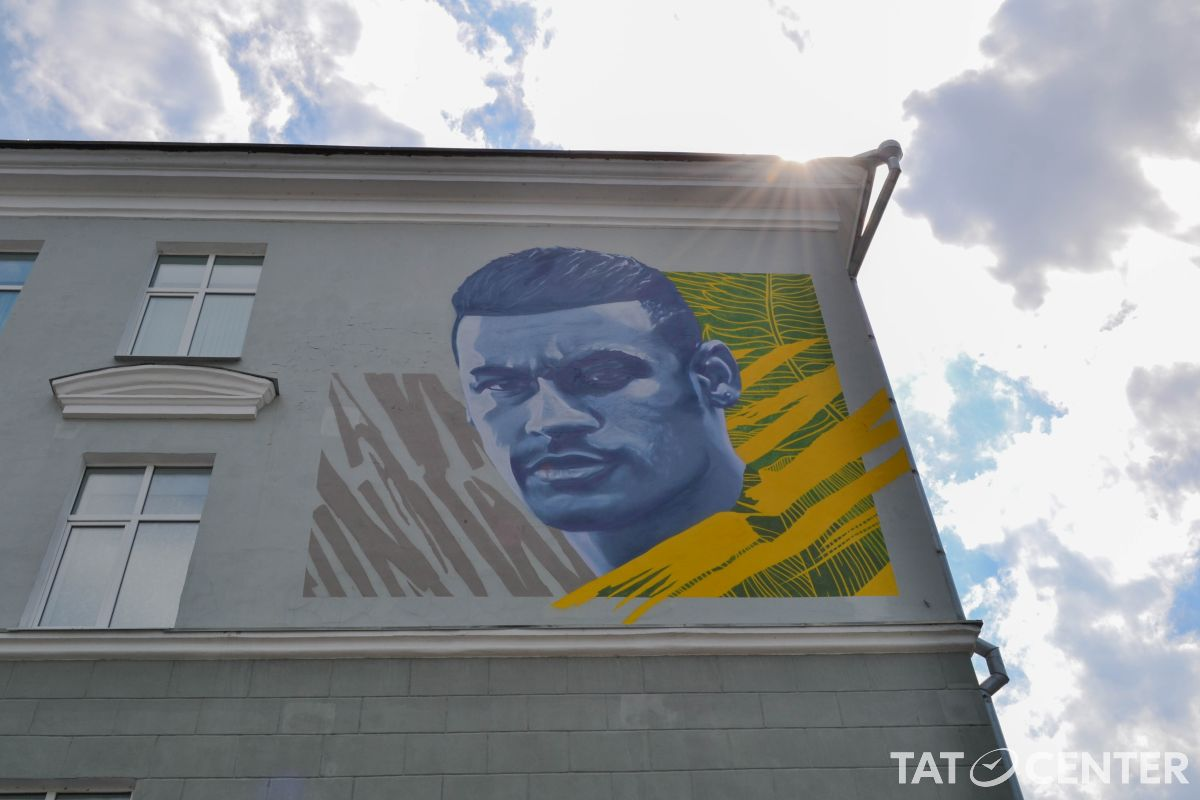 Граффити Неймара в Казани