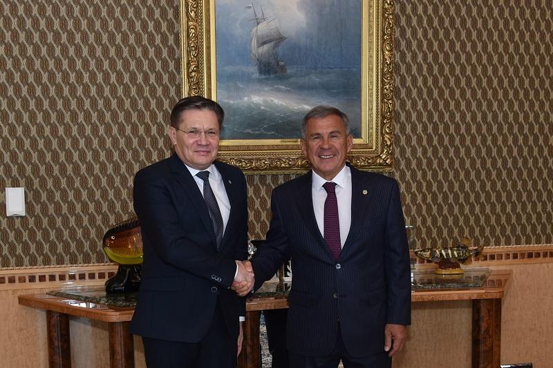 Минниханов и гендиректор Росатома Лихачев