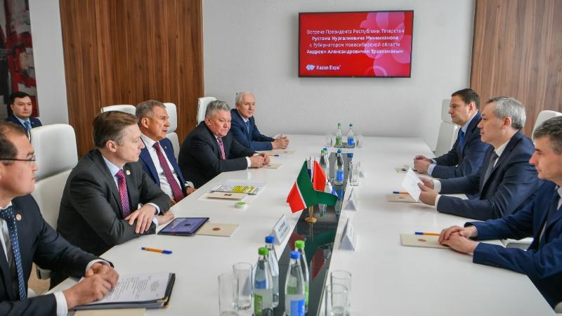 Минниханов и губернатор Новосибирской области Травников