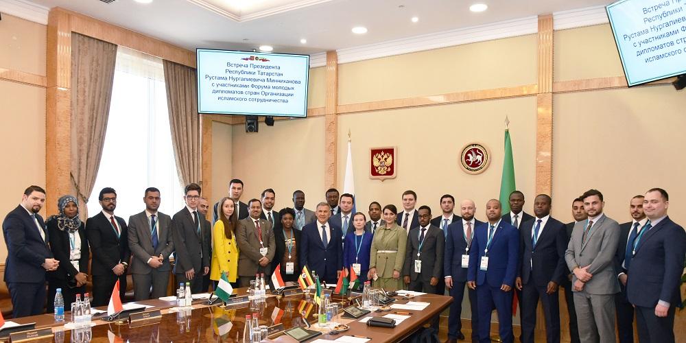 встреча с молодыми дипломатами стран ОИС