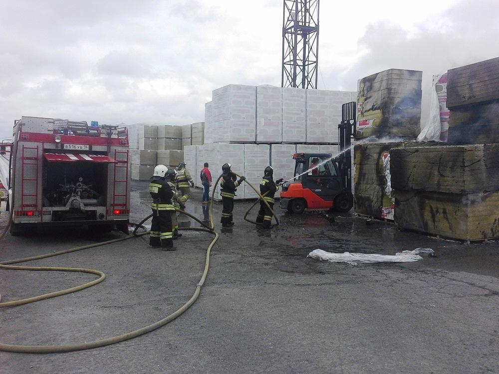 пожар на заводе в Заинске