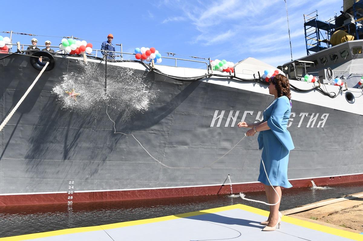 Корабль Ингушетия спустили на воду в Зеленодольске