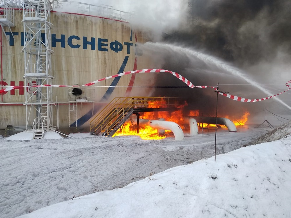 Калейкино пожар в Альметеьвске