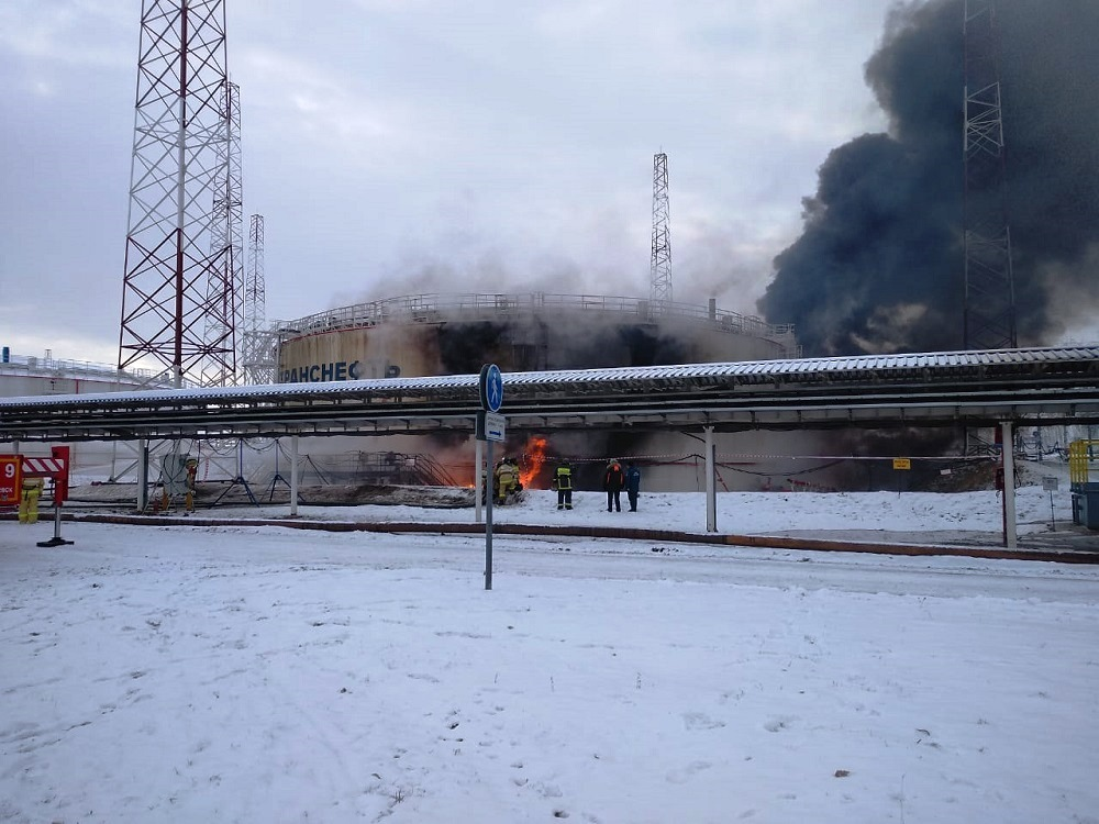 Пожар в Альметьевске на Калейкино