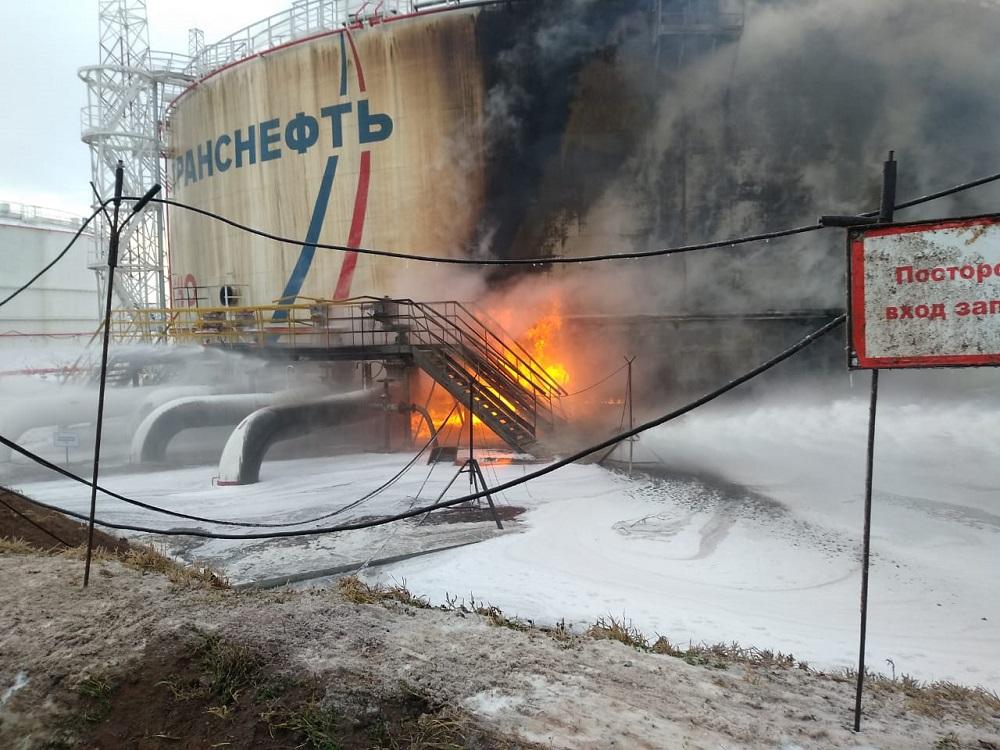 Транснефть пожар в Альметьевске