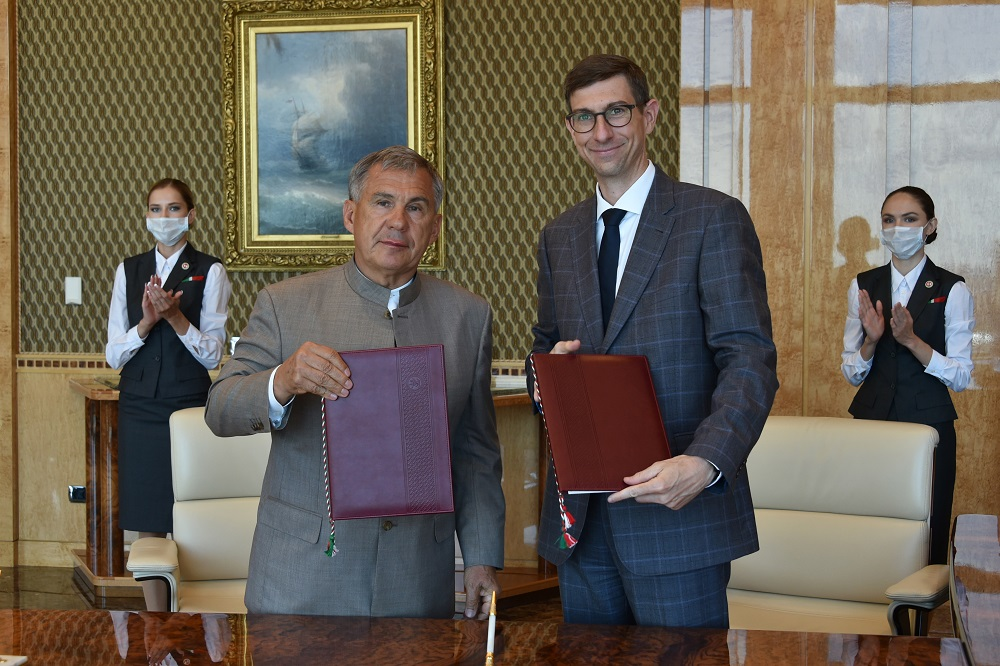 Подписание соглашения Татарстана и Maersk