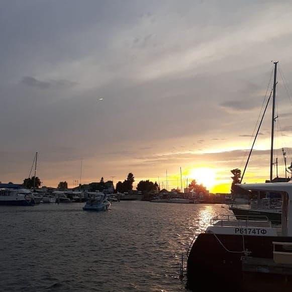 Яхта закат